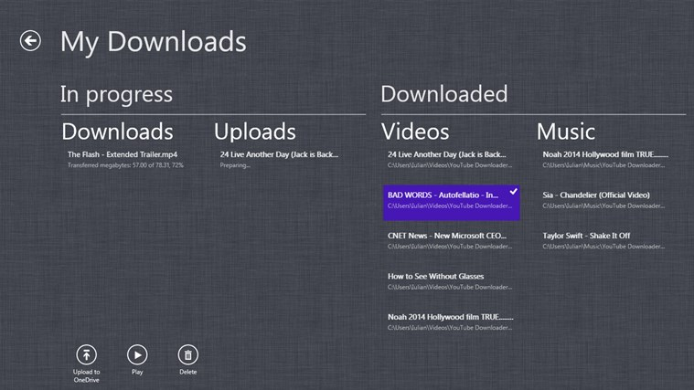 YouTube Downloader Plus RT screen shot 5