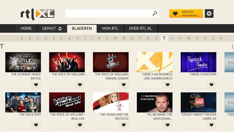 RTL XL schermafbeelding 3
