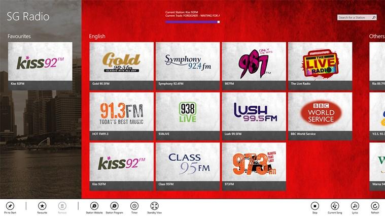 SG Radio screen shot 3