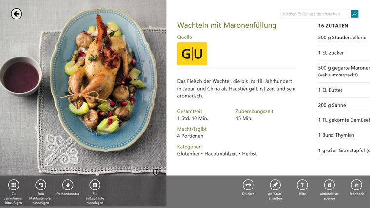 MSN Kochen & Genuss Screenshot 1