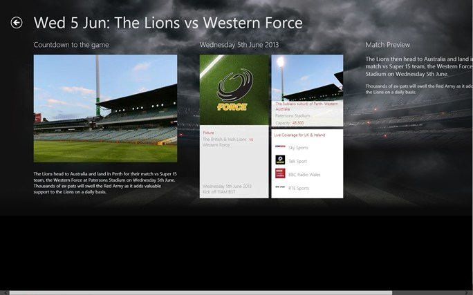 Lions Official screen shot 3