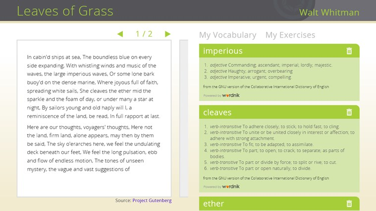 Learning in Context: Reading Comprehension screen shot 3
