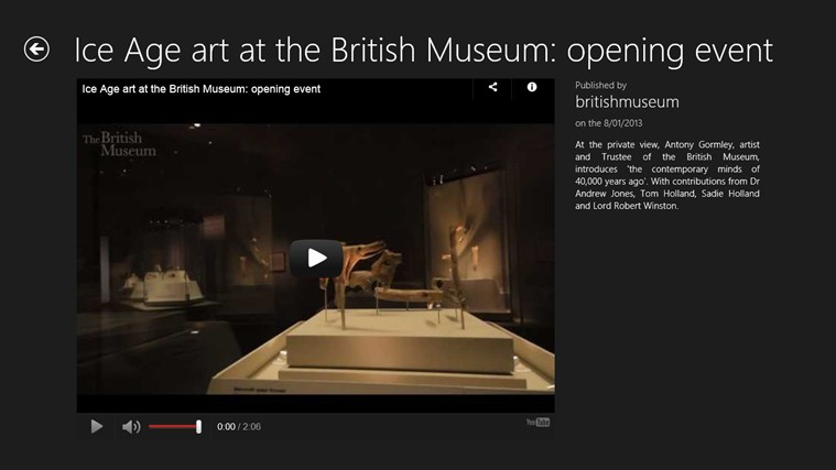 British Museum Fan App captura de pantalla 1