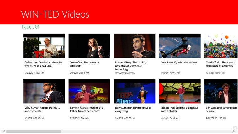 Windows TED Talks screen shot 1