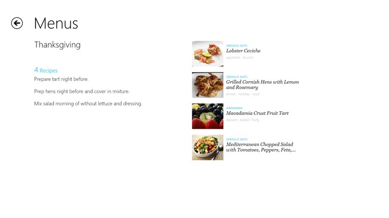 Recipe, Menu & Cooking Planner screen shot 5