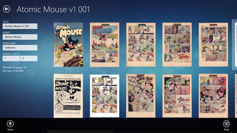 ComicBookReader cattura di schermata 1
