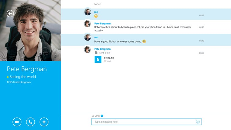Skype screen shot 1