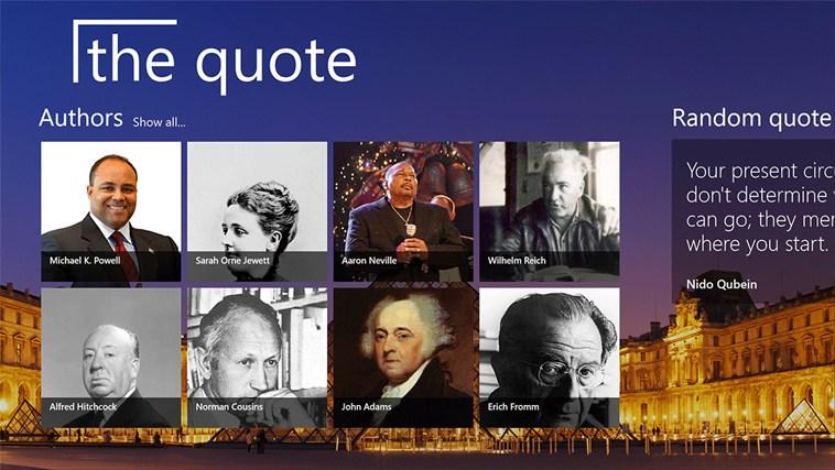 The Quote snímek obrazovky 1