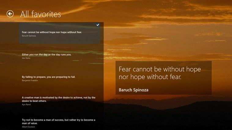 The Quote snímek obrazovky 5