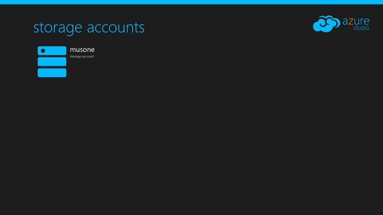 Azure Studio screen shot 1
