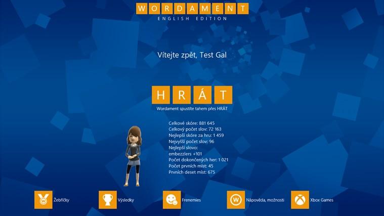 Wordament snímek obrazovky 1