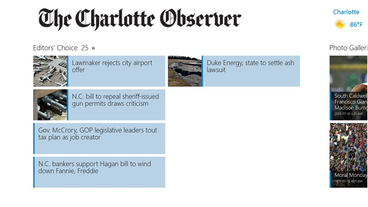 The Charlotte Observer screen shot 1