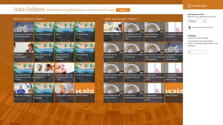 Isala folders schermafbeelding 3