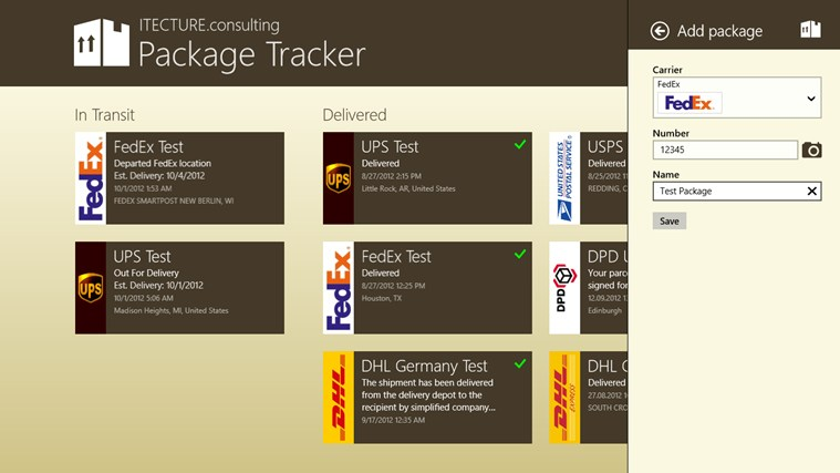 Package Tracker screen shot 3