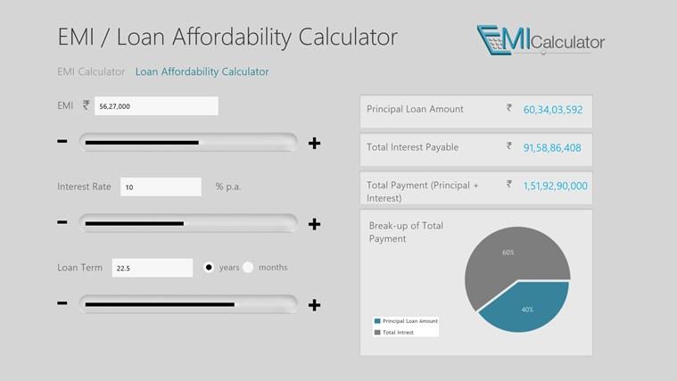EMI Calculator screen shot 1