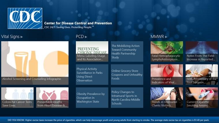 CDC screen shot 1
