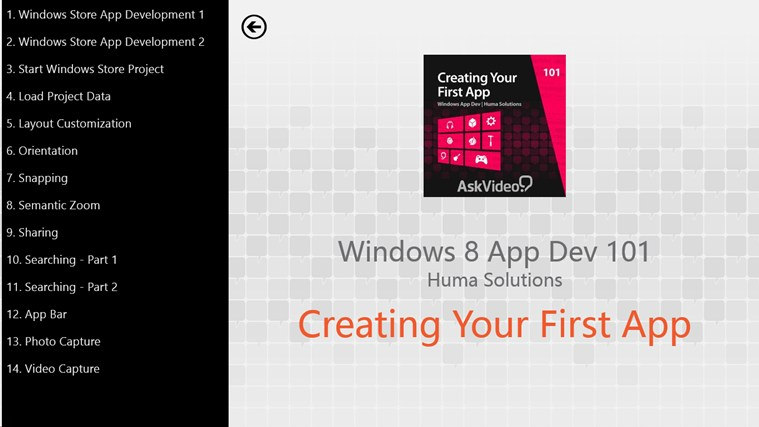 Create Your First Windows 8 App screen shot 1