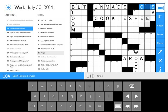 The New York Times Crossword screen shot 1