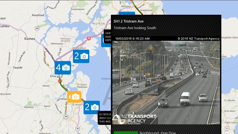Auckland Traffic screen shot 1