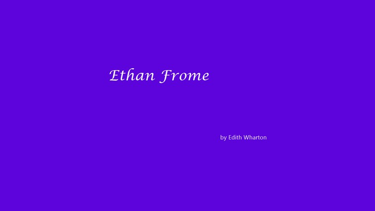 an introduction to the life of ethan frome the most striking figure in strakfield The narrator recounts the first time she saw ethan frome, the most striking figure in starkfield who is not striking because he is handsome, but because of the air of ruin that surrounds him [tags: free essay writer].