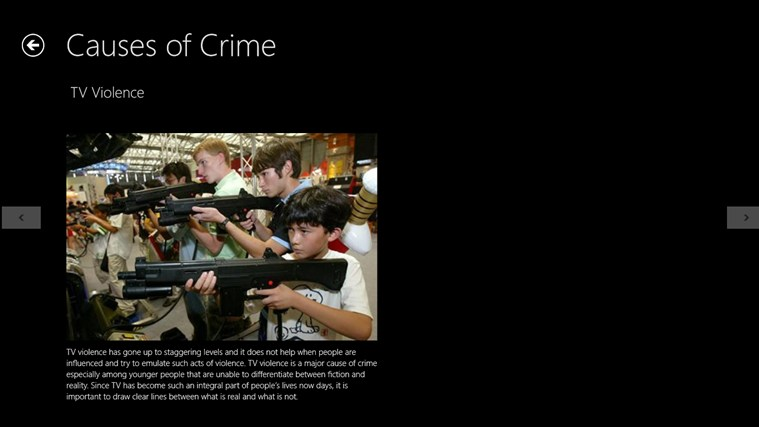 essays on causes of crime It is difficult to give a brief discussion on the causes of crime, as the subject is both broad and technical this essay provides a brief overview, in simple terms, of what is known about factors that cause crime, and the issues that could make some individuals more likely to become involved in.