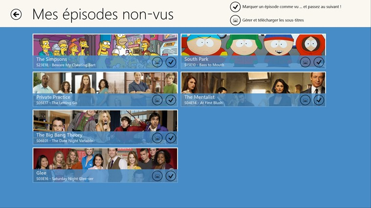 Mes Séries TV capture d'écran 3