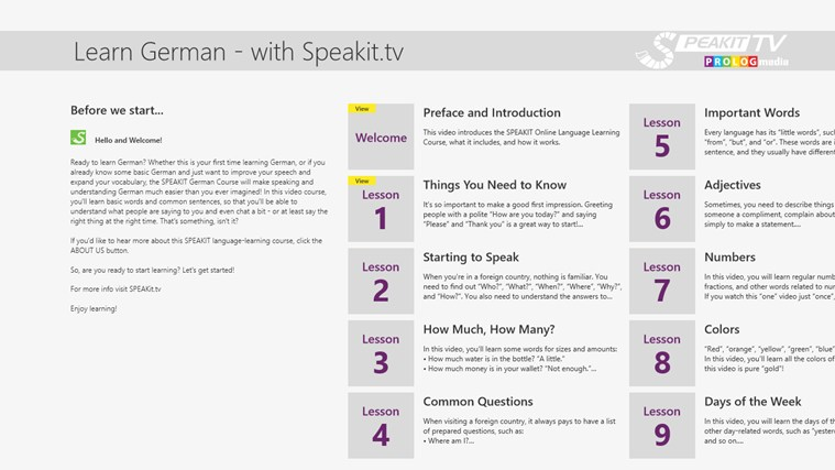 GERMAN - SPEAKit.tv (Video Course) captura de pantalla 1