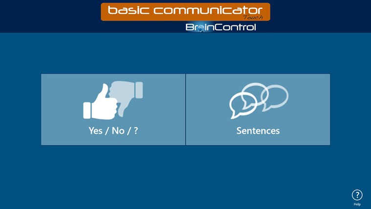 BrainControl - Basic Communicator Touch screen shot 1
