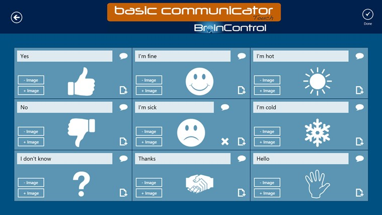 BrainControl - Basic Communicator Touch screen shot 5