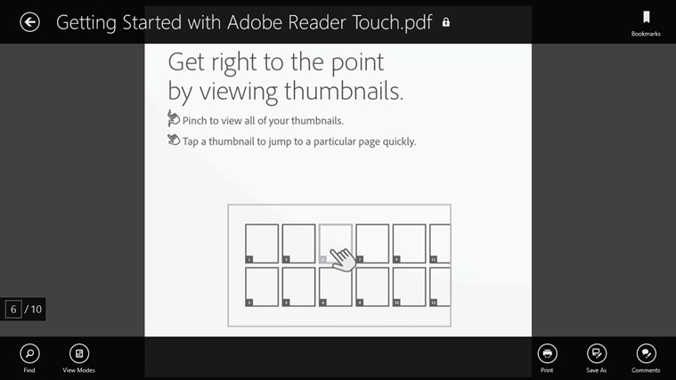 Adobe Reader Touch screen shot 1