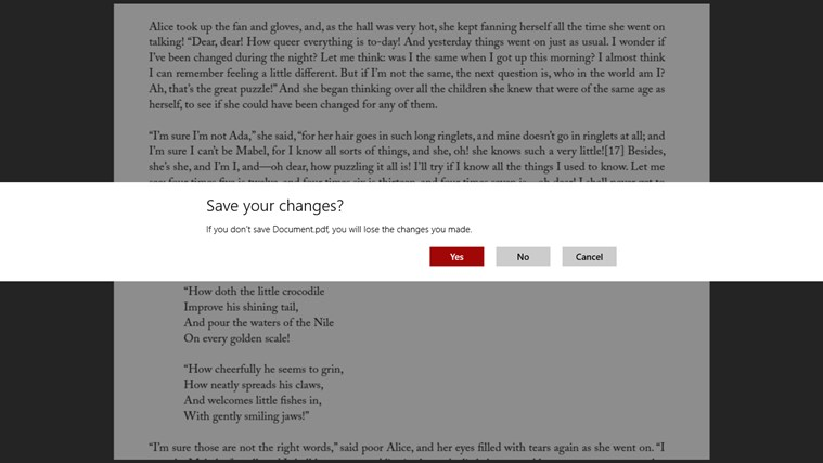 Adobe Reader Touch screen shot 7