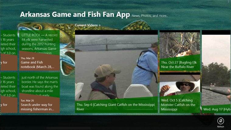 Arkansas Game and Fish Fan App screen shot 1