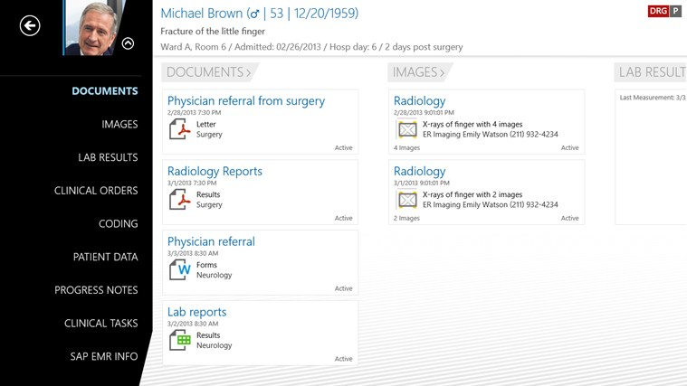 SAP EMR Unwired screen shot 1