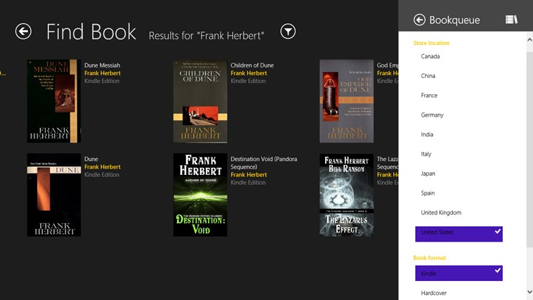 Bookqueue screen shot 3
