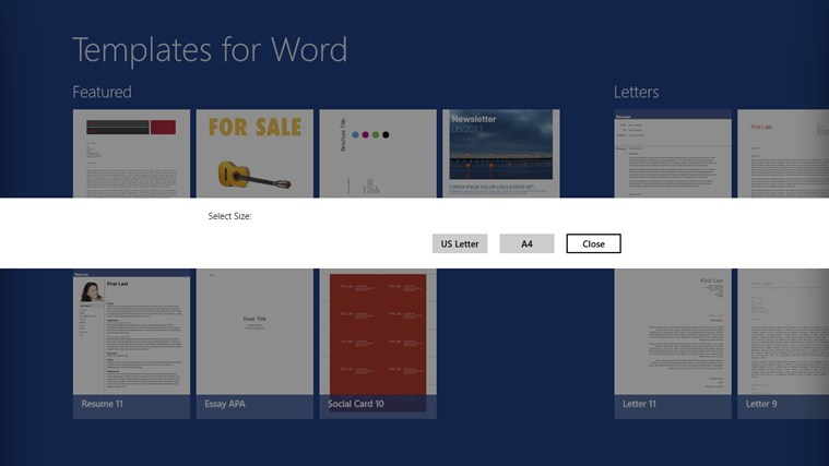 Download free templates for word