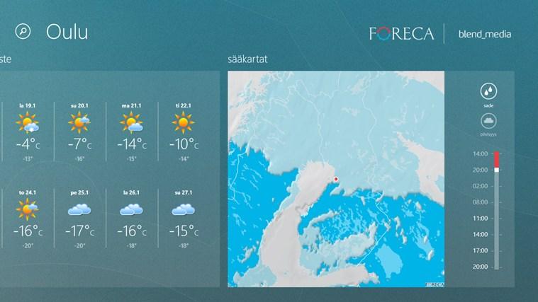 ForecaWeather näyttökuva 3