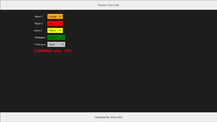 Resistor Color Code captura de tela 1