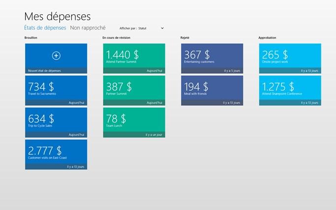 Dynamics AX 2012 Expenses capture d'écran 1