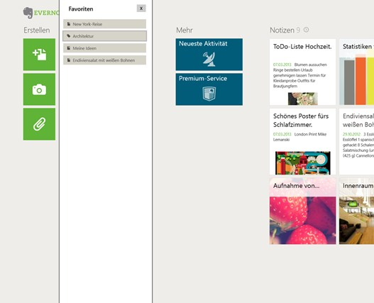 Evernote Touch Screenshot 3