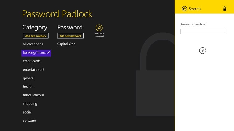 Password Padlock screen shot 3
