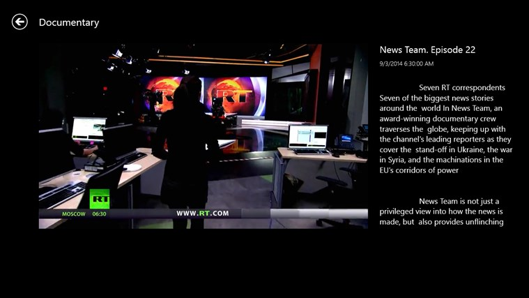 RT News English screen shot 5
