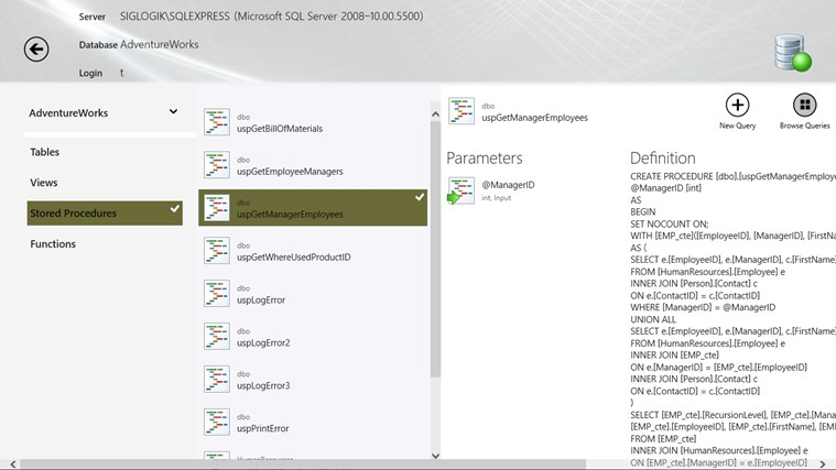 SQL Server InTouch captura de pantalla 3