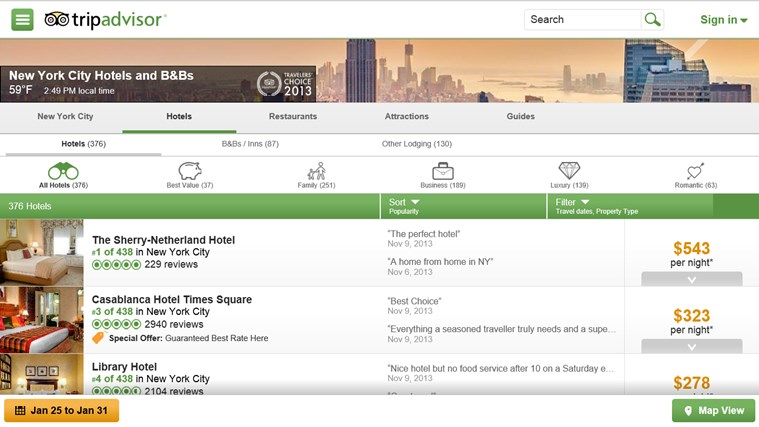 TripAdvisor Hotels Flights Restaurants screen shot 1