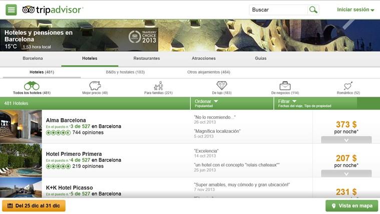 TripAdvisor Hotels Flights Restaurants captura de pantalla 1