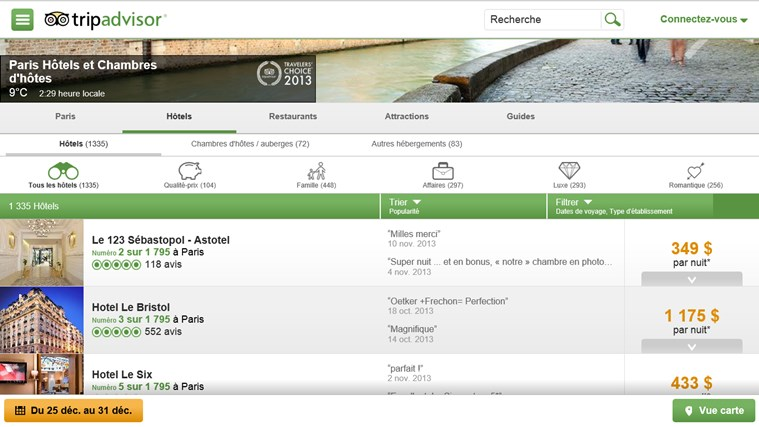 TripAdvisor Hotels Flights Restaurants capture d'écran 1