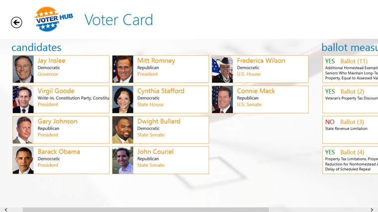 Voterhub screen shot 7