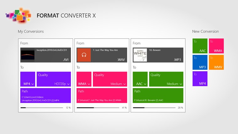 Format Converter X screen shot 1