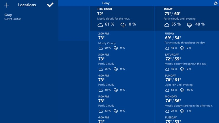 Atmosphere Weather screen shot 1