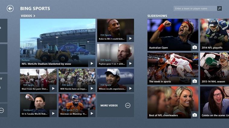 Bing Sports screen shot 3