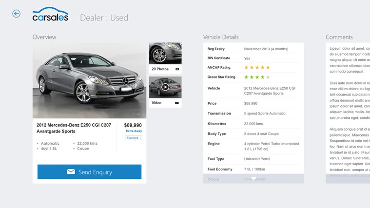 Carsales screen shot 3